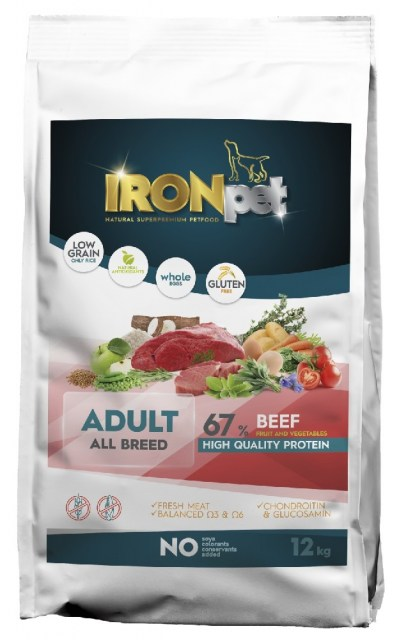 IRONpet BEEF Adult All Breed 12kg-14968