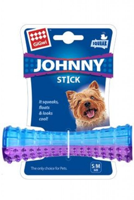 Hračka pes GiGwi Johnny Stick Small aport modro/purpur
